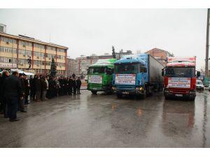 Bayır Bucak Türkmenlerine 3 TIR yardım