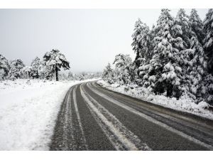 Muğla'da kar yağışı etkili oluyor