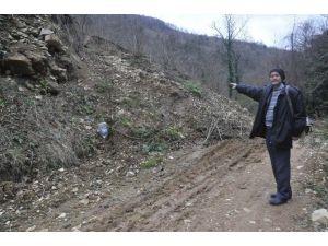 Kurugöl Kanyon Yolunda Heyelan