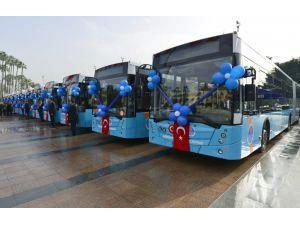 Yeni körüklü otobüsler Mersinlilerin hizmetinde