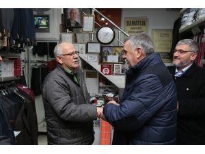 Başkan Zeki Toçoğlu Uzun Çarşı Esnafını Ziyaret Etti
