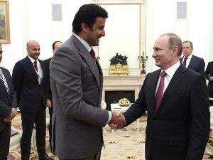Katar Emiri Al Sani Putin ile bir araya geldi