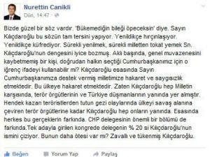 Nurettin Canikli'den Kılıçdaroğlu'na Tepki