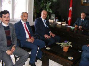 Din-bir-sen Genel Başkanı Özdemir Çan İlçesinde Ziyaretlerde Bulundu