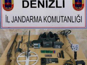 Denizli'de Kaçak Kazı Operasyonu: 9 Gözaltı