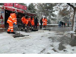 Aksaray Belediyesi Kar Yağışı İçin Teyakkuzda