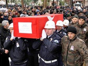 Şehit polis memuru Tırpan son yolculuğuna uğurlandı