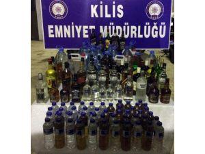 Kilis'te Kaçak Ve Sahte İçki Ele Geçirildi