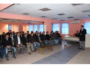 Samsat'ta İş Sağlığı Toplantısı Yapıldı