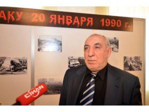 Bakü'de 20 Ocak katliamında hayatını kaybedenler Kiev'de anıldı