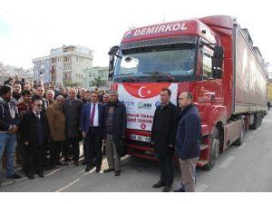 Canik'ten Bayır Bucak Türkmenlerine Yardım Eli