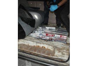 Minibüsteki Zuladan 6 Bin Paket Kaçak Sigara Çıktı