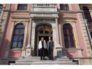 Uğurkan Erez, Başkan Gürkan'ı Ziyaret Etti