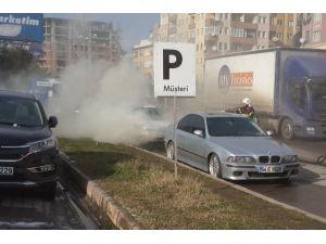 Otomobili Yanmaktan İtfaiye Kurtardı