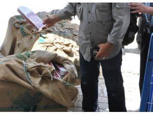Gaziantep'te 2 Bin 500 Paket Kaçak Sigara Ele Geçirildi