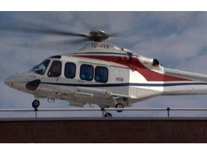 Mustafa Koç'un Hastaneye Helikopterle Getirilişi Kamerada