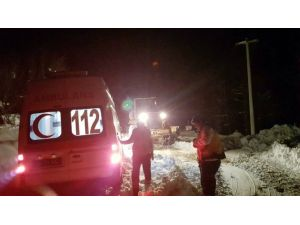 Kara Saplanan Ambulans 6 Saat Sonra Hastaya Ulaştı
