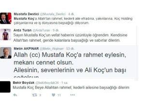 Mustafa Koç için ne dediler?