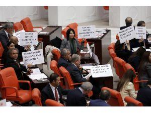 HDP'den TBMM'de dövizli protesto