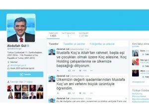 Abdulah Gül Twittter Hesabından Koç Ailesine Başsağlığı Mesajı Yayınladı