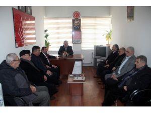 Ntso Meclis Başkanı Seyit İnce, CHP İl Başkanlığı'na Gülmez'i Ziyaret Etti