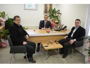 AK Partili Palabıyık'tan Ziraat Bankası Müdürü Canan'a Ziyaret