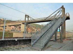 Kirazlıyalı Yaya Köprüsü Tamamlandı