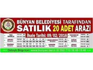 Bünyan Belediyesi 20 Adet Araziyi Satışa Çıkardı