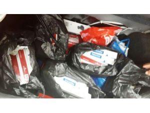 Otomobil Bagajında 200 Paket Kaçak Sigara