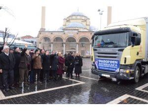 Bayırbucak Türkmenlerine Yardım Tır'ları Yola Çıktı