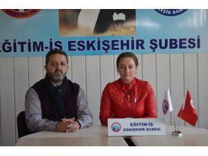Eğitim-iş Eskişehir Şube Başkanı Ebru Sungar: