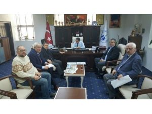 Balıkesir Milletvekili Ali Aydınlıoğlu Edremit Belediyesine Ve Baski Müdürlüğüne Ziyaretlerde Bulundu