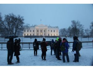 Beklenen kar fırtınası Washington'da hayatı felç etti