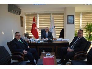 Kırklareli Belediye Başkanı Ve Ahmetbey Belediye Başkanı Teski'yi Ziyaret Etti