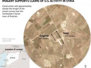 ABD, Suriye'nin Kuzeyindeki Uçak Pistini Genişletiyor