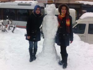 Yozgat'ta kar yağışı tipi şeklinde devam ediyor