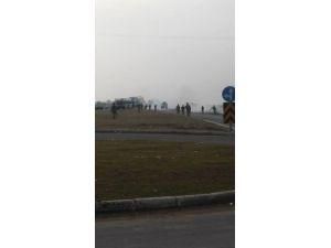 Nusaybin'de Cizre'ye gitmek isteyen gruba müdahale