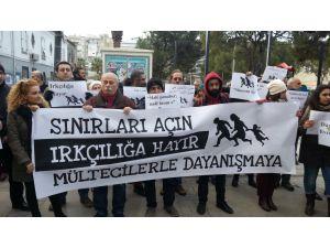 İzmir polisi mülteciler için yürümek isteyenlere izin vermedi