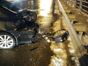 Kaygan Zemin Kaza Getirdi: 1 Yaralı