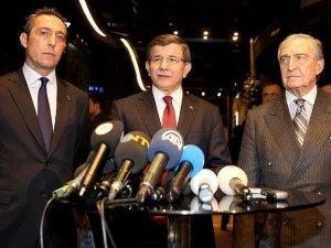 Başbakan Davutoğlu Koç ailesine taziye ziyaretinde bulundu