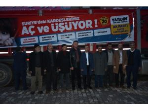 Kahta İlçesinden, Bayırbucak Türkmenlerine 1 Tır Dolusu Yardım