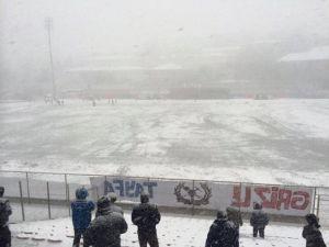 Yoğun Kar Yağışı Nedeniyle Kömürspor - Kırıkhanspor Maçı Ertelendi
