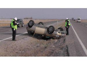 Konya'da Otomobil Takla Attı: Dört Yaralı