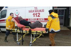 Kardan Yolu Kapanan Köydeki Hasta Paletli Ambulansla Kurtardı