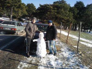 Kaz Dağları'nda yarı yıl tatili karla bir başka güzel