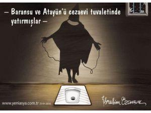 Baransu'nun anlattığı tuvalet işkencesi Karikatürist Özdabak'ın çizgilerinde