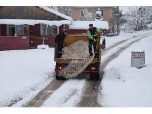 Yoğun Kar Yağışına Rağmen Başiskele 'De Yollar Açık