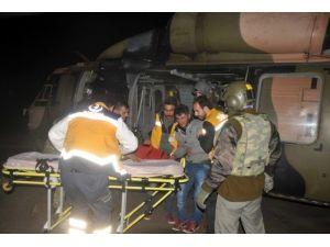 Siirt'te Hasta Vatandaş Askeri Helikopterle Hastaneye Kaldırıldı