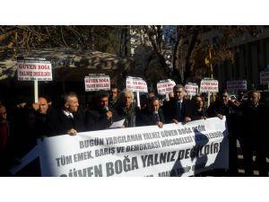 'Hırsızlığa, Yolsuzluğa Hayır' eylemine katılan STK temsilcileri yargılanıyor