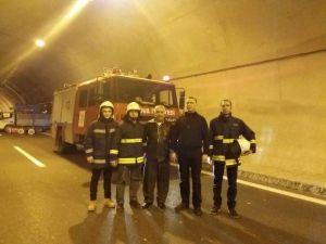 Samanlı Tünelinde Duman Tahliye Testi Yapıldı